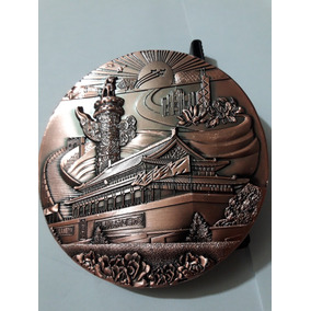 Medalha Em Broze Gigante..80mm E 190g Republica Da China