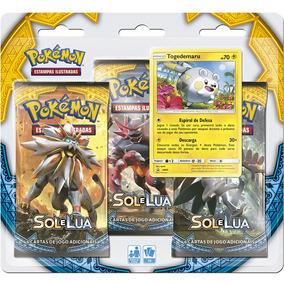 Pokémon Triple Pack Booster Sol E Lua Togedemaru Português