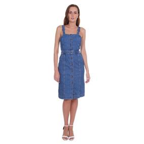 d4c9cfa9d5 Vestido Feminino Jeans Levis Cherie - Cor Azul Médio