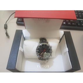 b070e67a596 Relógio Tissot Prs 516 T1004171605100 Azul E Marrom + Nf - Relógios ...