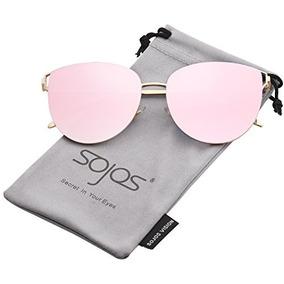 Sojos Espejo Lente Plana Gafas De Sol De Moda Para Mujeres S f6d2710fe6ee