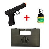 Pistola Kwc Glock G7 Black Spring + 1000 Bbs + Maleta