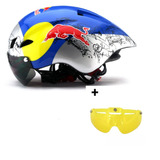 Capacete Ciclimo Redbull Speed Tt + 1 Viseira Noturna Extra