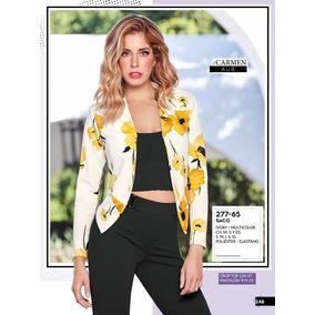 Saco Dama Floral Multicolor Cklass 277-65 Pri/ver-2019