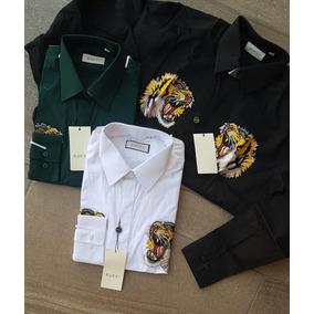 Camisa Gucci Vestir Caballero Diseño Tigre (8)