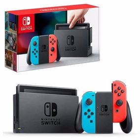 Nintendo Switch Neon 32g + 4 Jogos + Case Preto