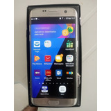 Samsung S7 Edge 32gb - Prata - Peq.trincado P Sup.- Brindes