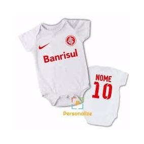 9eeccf4178f Body Infantil Personalizado Bebê Time Inter Futebol - 3 Unid