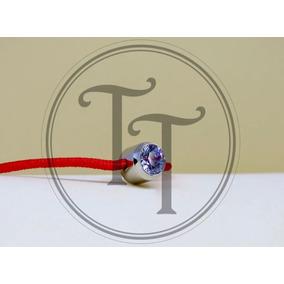 Pulsera Kabbalah Seda Roja, Titanio 18k Zirconia 3.0 Ct