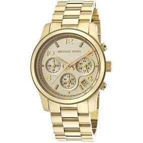 Relógio Michael Kors Gold Runway Cronograph Mk5055/4dn