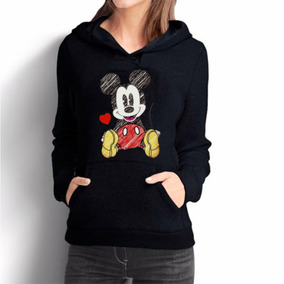 Blusa Moletom Mickey Mouse Disney Moleton Canguru Feminino df43820b0de