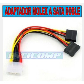 Cable Adaptador De Corriente Molex A Doble -sata.