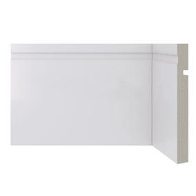 Zocalo Alto Sustentable Blanco 15cm Moderno Diseño Recto