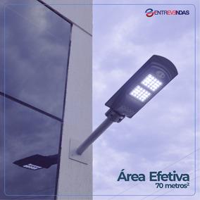 Luminária Pública Poste Solar Led 40w Com Bateria P/ 12horas