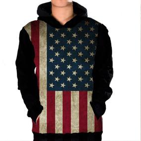 9122eee69c Casaco Moletom Canguru Bandeira Eua Estados Unidos Usa Flag