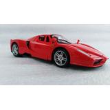 Auto Enzo Ferrari A Escala 1:24, 18cms De Largo Metálico