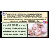 50 % Descuento Facial Purificante Reafirmante En Evento