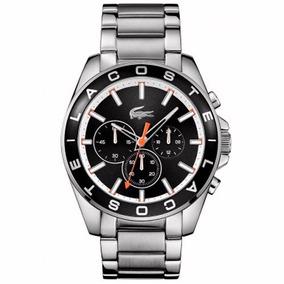 b7bdd98200d Relógio Lacoste Masculino Aço Fundo Preto - 2010855