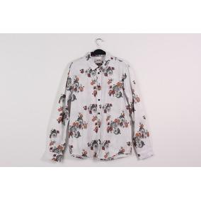 Camisa Mcd Flower Fish Manga Longa Branca 94c2c5a77f5