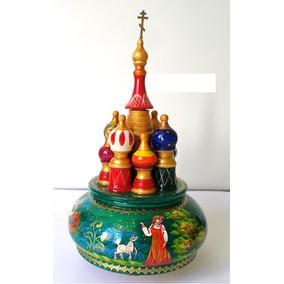 Bonecas Russas Caixinha Musica Cm03 St.basil Cathedral 23cm