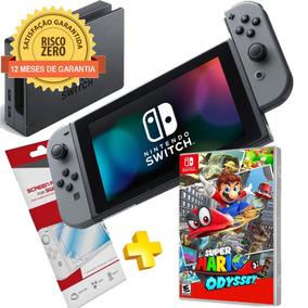 Nintendo Switch Gray + Jogo Mario Odyssey