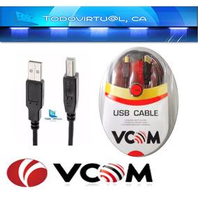 Cable Usb Impresora Vcom 1.8m Escaner Modem Router