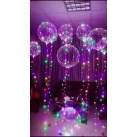 20-baloes De Led Kit Festa Baloes Transparente