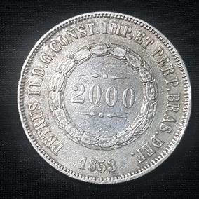 Moeda 2.000 Réis 1853 2º Tipo - Cunhagem: 145.052
