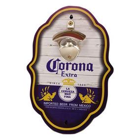 Abridor De Garrafas Em Formato Placa Corona