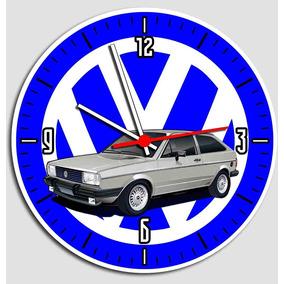 Relógio De Parede Gol Quadrado - Vw Carro Antigo - Mod1