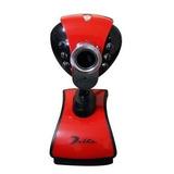 Cámara Web Cam, Con Micrófono Y Flash, Rota 360 Grados, 8mpx