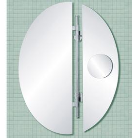 Espejo Baño Oval Reflejar Flip 60x80 Aleta Movil Con Aumento