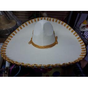 2 Sombrero Charro Hueso Oro Adulto Mexicano Fino Mayoreo b55fac0ed82