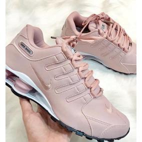 f34112cf4ec Tenis Nike Shox Nz Branco E Rosa Feminino Original - Calçados ...