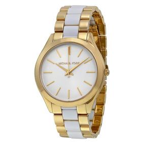 28db0e4e10c Relógio Michael Kors Branco 5379 Pronta Entrega Original - Relógios ...