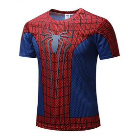 Playera Spiderman Marvel Avengers Gym Lycra Crossfit Unisex
