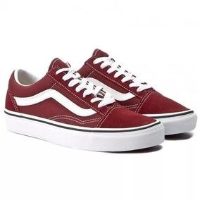 5f8bdc3bcb5 Tenis Preto Sola Preta Skate Nike Vans Old Skool - Tênis Bordô no ...