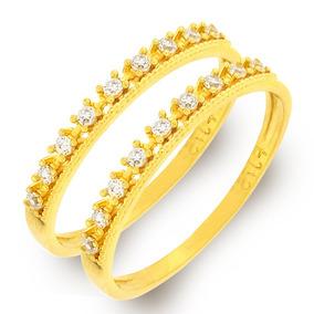 Anel De Ouro 18k Aparador Face Fosca Quadriculada (1 Peça) - Joias e ... 9a39f7d612