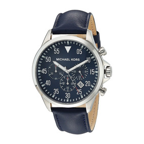 Reloj Michael Kors Mk Mk8617 Azul Plateado Cronógrafo Origin