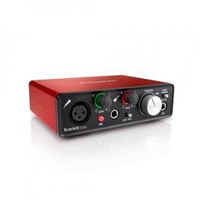 Interface De Áudio Focusrite Scarlett Solo 2 Ger | Nfe | Gar