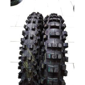 Pneu Moto Trilha Par 110/90-17 E 90/90-19 Bros Remold