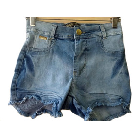 Shorts Hot Pants Disco Pant Cintura Alta Destroyed Anitta