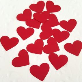 Corações De Papel Alta Gramatura Kit Com 100 Unidades