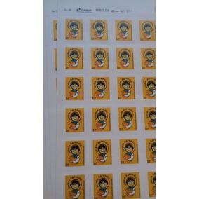 6 Folhas (180 Selos) Carta Não Comercial 1°porte