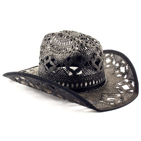 Kit 10 Chapéu Tipo Palha Preto Country Cowboy Festa Barreto 7840ce5f278