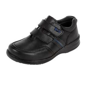 Zapatos Escolares Para Niño Yuyin Color Negro #18 Al 21.5