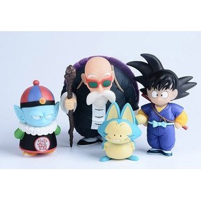 Goku, Kame, Pilaf E Pual - Kit 4 Action Figures Dragon Ball
