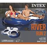 Boia Inflável Para 2 Pessoas Intex Com Cooler