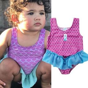 Traje De Baño Para Bebe Sirenita Bikini Bebe