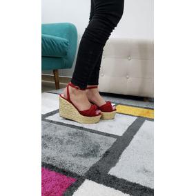 Sandalia De Plataforma En Yute Lm Envio Gratis